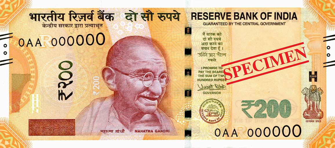 RBI 200 Notes